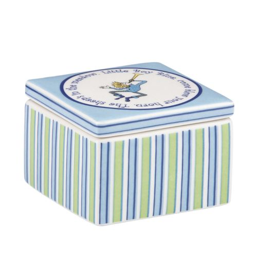Merry Go Round Little Boy Blue Striped Trinket Box