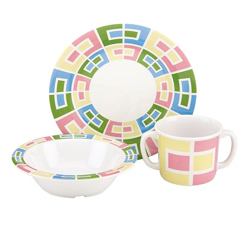 Merry Go Round Pitter Patter 3-pc. Dinnerware Set