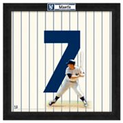 Mickey Mantle Framed Jersey Photo