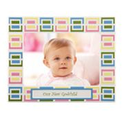 Merry Go Round Pitter Patter 'Our New Godchild' 5 x 7 Frame