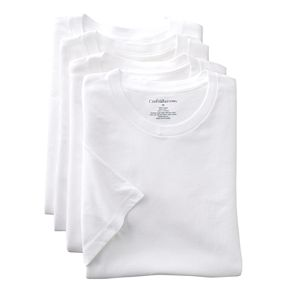 Big & Tall Croft & Barrow® 4-pk. Crewneck Tee