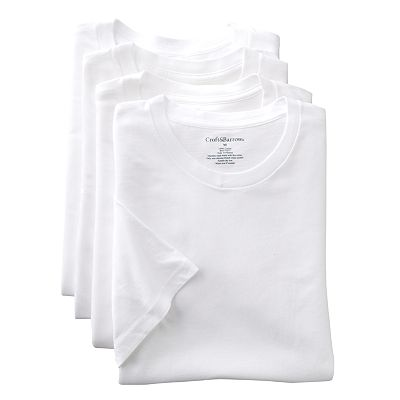 Croft and Barrow 4-pk. Crewneck Tee - Big and Tall