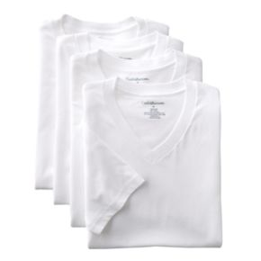 Big & Tall Croft & Barrow® 4-pk. V-Neck Tee