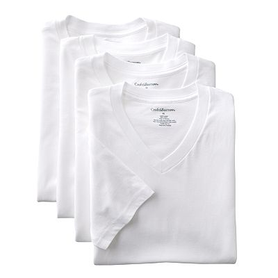 Croft and Barrow 4-pk. V-Neck Tee - Big and Tall