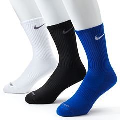 Men's Nike 3 pkDri-FIT Cushioned Crew Socks