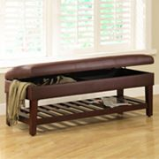 Kinfine Cooper Extra Long Storage Bench with Shelf