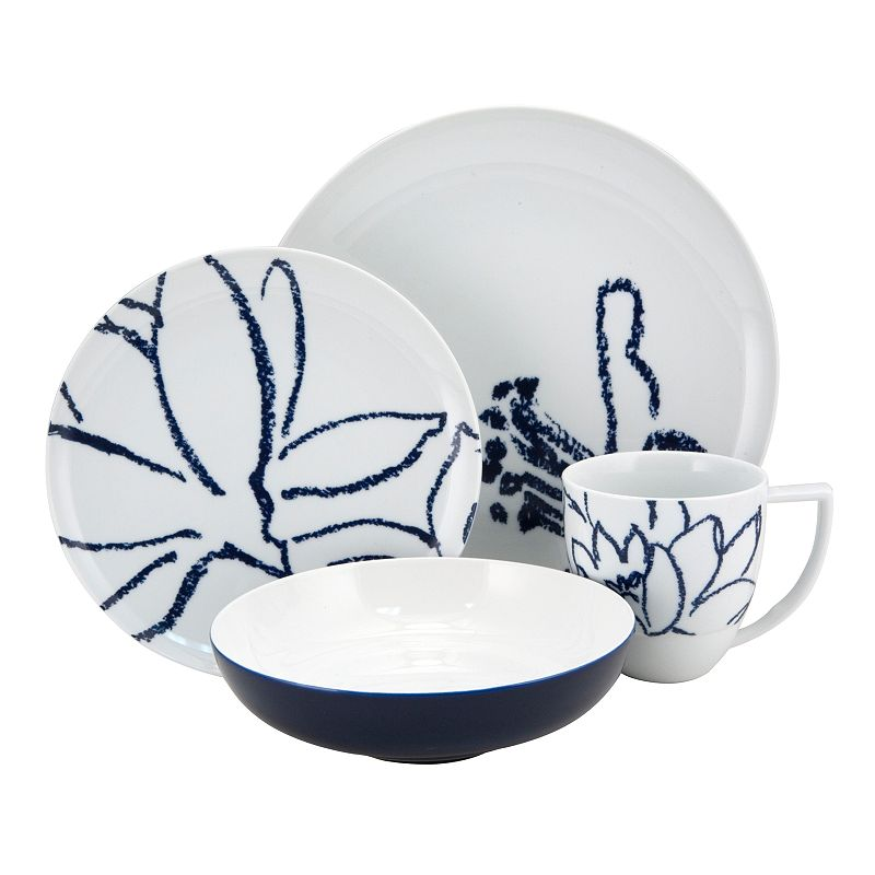 Nikko Artist Blue 16-pc. Dinnerware Set