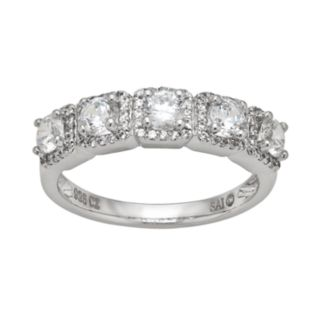 DiamonLuxe Sterling Silver 1.59-ct. T.W. Simulated Diamond Frame Ring