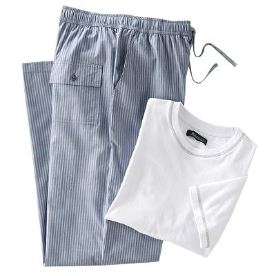 Residence Tee and Plaid Lounge Pants Pajama Set - Big and Tall