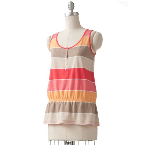 womens top striped henley