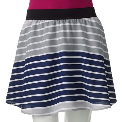 SO Striped Challis Skirt - Juniors