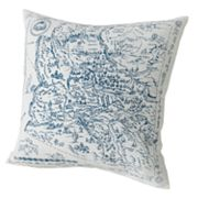 Chaps Canyon Map Decorative Pillow