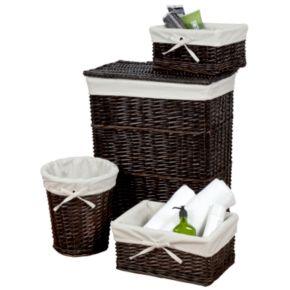 Creative Bath Wickerworks 4-pc. Hamper Set