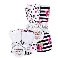 Trend Lab Zahara 8 pc Bib and Burp Cloth Set