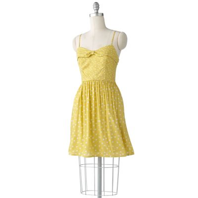 LC Lauren Conrad Polka-Dot Bow Dress