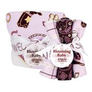 Trend Lab Rodeo Princess Hooded Towel and Washcloth Bouquet Set