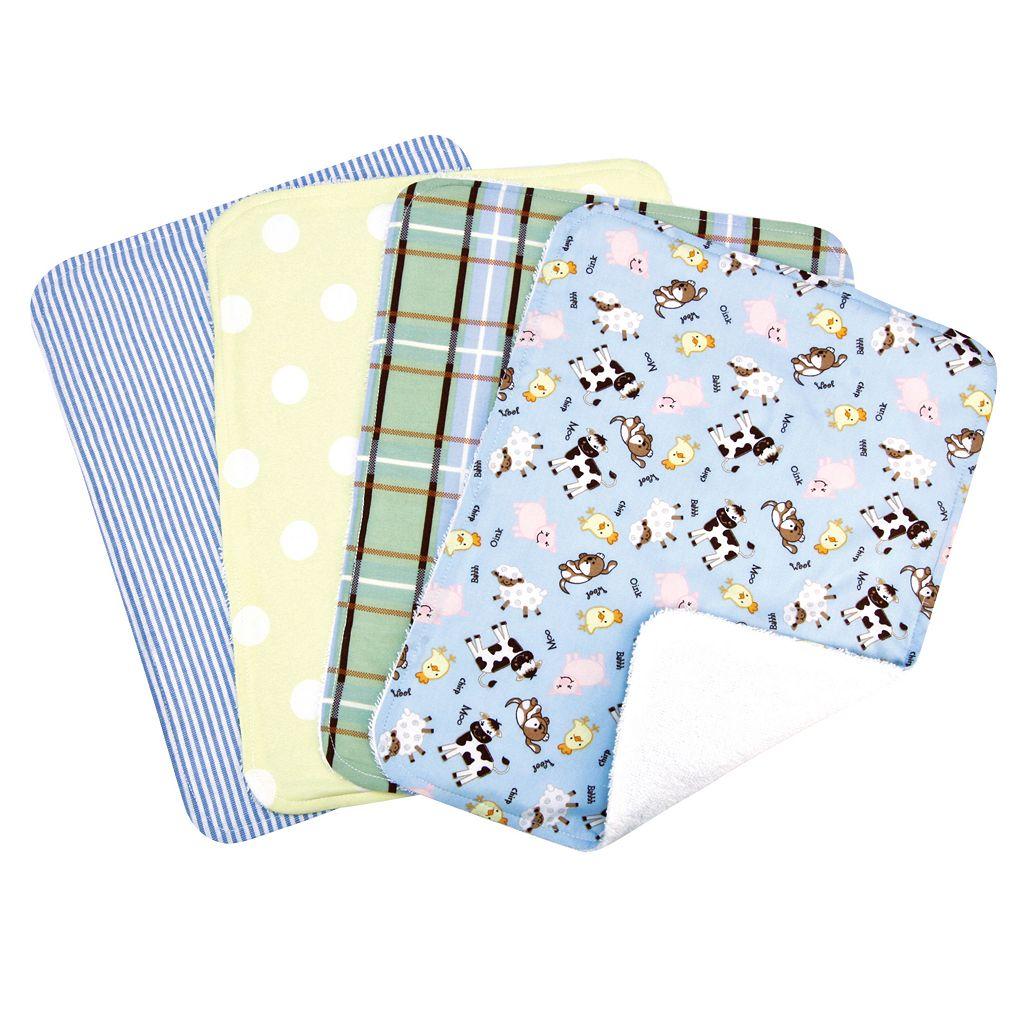 Trend Lab Baby Barnyard 4-pk. Burp Cloth Bouquet