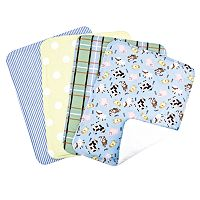 Trend Lab Baby Barnyard 4-pk. Burp Cloth Bouquet