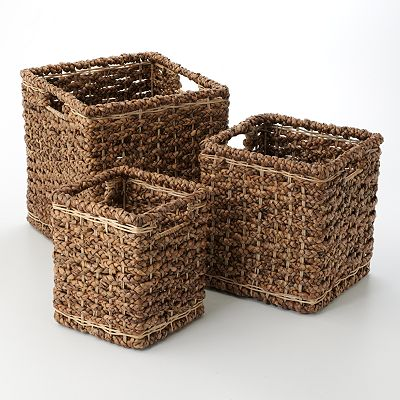 3-pc. Cube Basket Set