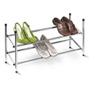 Honey-Can-Do Chrome Expandable 2-Tier Shoe Rack