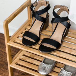 Honey-Can-Do Bamboo 2-Tier Shoe Rack