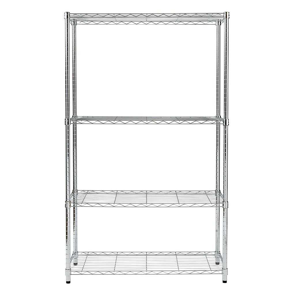 Honey-Can-Do Chrome Adjustable Shelving Unit - 4 Tier