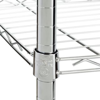Honey-Can-Do Chrome Adjustable Shelving Unit - 4 Tier