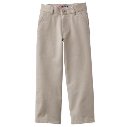 Chaps Flat-Front Twill School Uniform Pants - Boys 4-7x