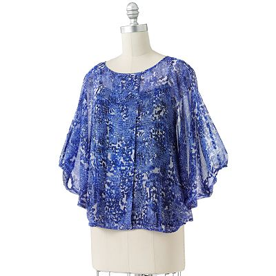 Dana Buchman Animal Poncho Top Set