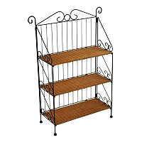 3 tier Wicker Bookcase