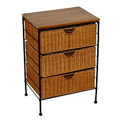 3-Drawer Wicker Chest