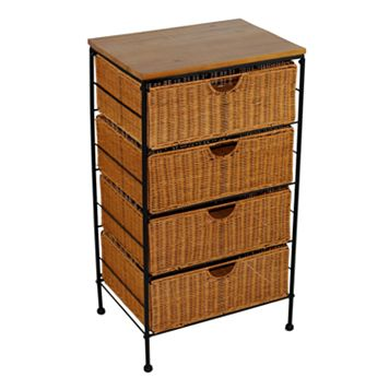 4-Drawer Wicker Chest