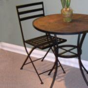 2-pc. Metal Folding Chair Set