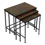 Slate 3 pc Nesting Table Set
