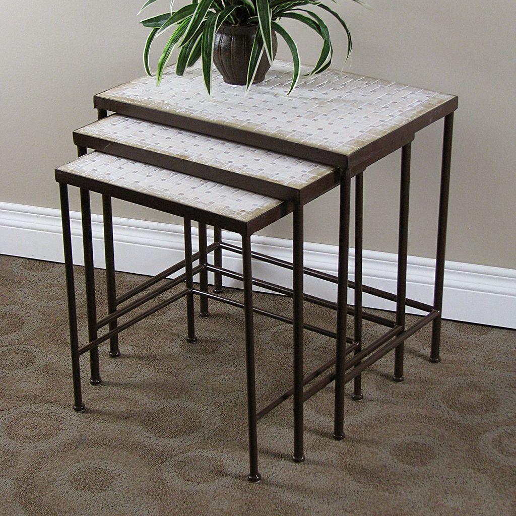 Travertine 3-pc. Nesting Table Set