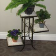 Travertine 3-Tier Plant Stand - Outdoor