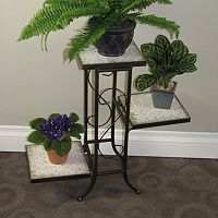 Travertine 3 tier Plant Stand - Outdoor