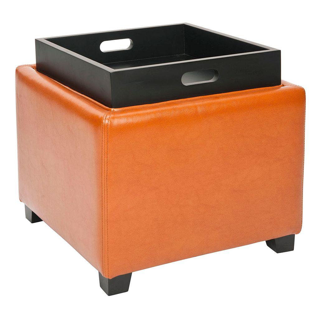 Safavieh Bennett Single Tray Storage Ottoman