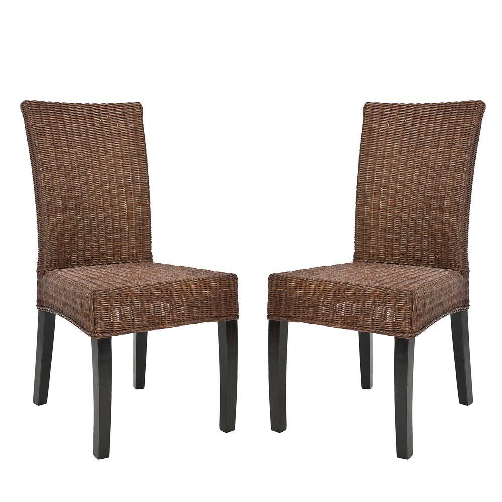 Safavieh 2-pc. James Wicker Side Chair Set