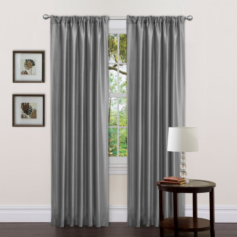 "Lush Decor 2-pack Delila Window Curtains - 42"" x 84"", Grey"