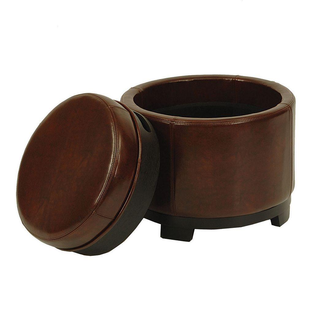 Safavieh Carter Round Storage Tray Ottoman