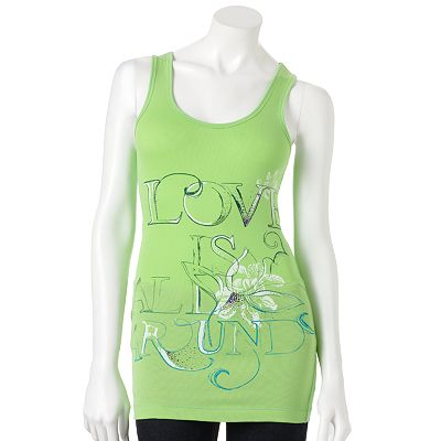SO Love Is All Around Racerback Ribbed Tank