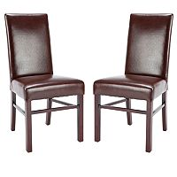 Safavieh 2-pc. Madeline Bicast Leather Side Chair Set