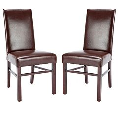 Safavieh 2 pc Madeline Bicast Leather Side Chair Set