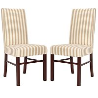 Safavieh 2-pc. Madeline Striped Side Chair Set