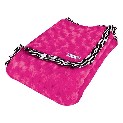Trend Lab Zahara Ruffled Velour Receiving Blanket