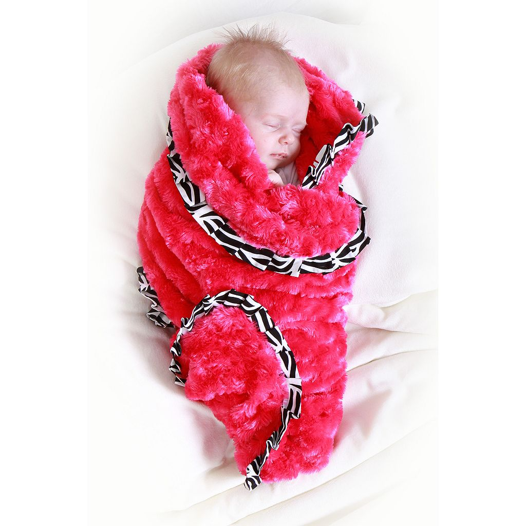 Trend Lab Zahara Ruffled Velour Receiving Blanket