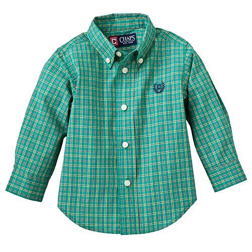Chaps Checked Oxford Woven Shirt - Baby