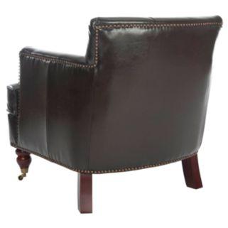 Safavieh Evan Bicast Leather Armchair
