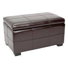 Safavieh Bella Small Bicast Leather Storage Bench